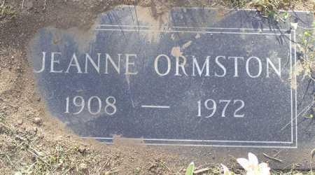 ORMSTON, JEANNE - Yavapai County, Arizona | JEANNE ORMSTON - Arizona Gravestone Photos