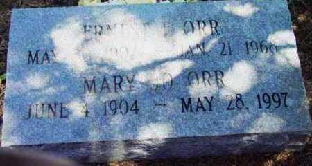 ORR, ERNEST FRANKLIN - Yavapai County, Arizona   ERNEST FRANKLIN ORR - Arizona Gravestone Photos