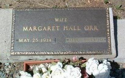 HALL ORR, MARGARET WOODWARD - Yavapai County, Arizona | MARGARET WOODWARD HALL ORR - Arizona Gravestone Photos