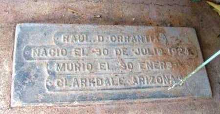 ORRANTIA, RAUL D. - Yavapai County, Arizona | RAUL D. ORRANTIA - Arizona Gravestone Photos