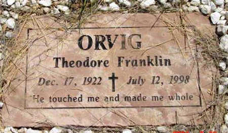 FRANKLIN ORVIG, THEODORE - Yavapai County, Arizona | THEODORE FRANKLIN ORVIG - Arizona Gravestone Photos