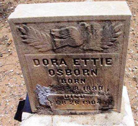 OSBORN, DORA ETTIE - Yavapai County, Arizona   DORA ETTIE OSBORN - Arizona Gravestone Photos