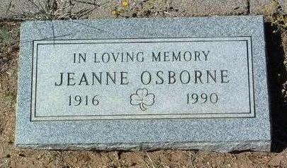 OSBORNE, JEANNE - Yavapai County, Arizona | JEANNE OSBORNE - Arizona Gravestone Photos