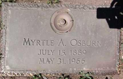 OSBURN, MYRTLE A. - Yavapai County, Arizona | MYRTLE A. OSBURN - Arizona Gravestone Photos