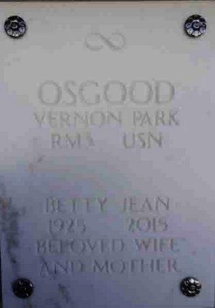 OSGOOD, BETTY JEAN - Yavapai County, Arizona | BETTY JEAN OSGOOD - Arizona Gravestone Photos