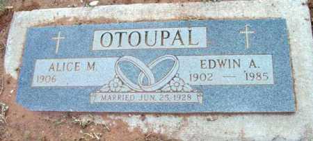 OTOUPAL, ALICE M. - Yavapai County, Arizona | ALICE M. OTOUPAL - Arizona Gravestone Photos