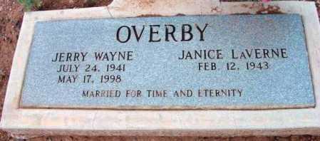 OVERBY, JANICE LAVERNE - Yavapai County, Arizona   JANICE LAVERNE OVERBY - Arizona Gravestone Photos