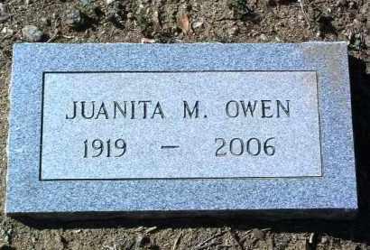 OWEN, JUANITA M. - Yavapai County, Arizona | JUANITA M. OWEN - Arizona Gravestone Photos