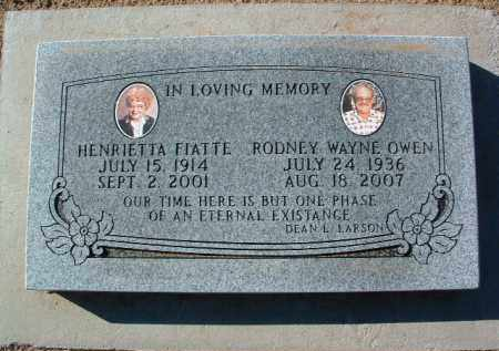 OWEN, HENRIETTA - Yavapai County, Arizona | HENRIETTA OWEN - Arizona Gravestone Photos