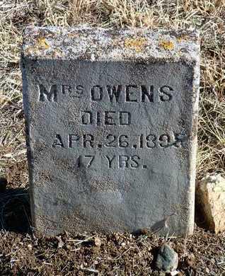 OWENS, MRS. - Yavapai County, Arizona   MRS. OWENS - Arizona Gravestone Photos