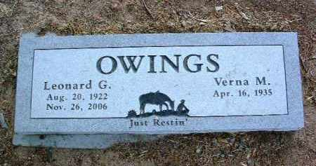 OWINGS, LEONARD G. - Yavapai County, Arizona | LEONARD G. OWINGS - Arizona Gravestone Photos