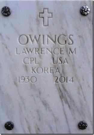 OWINGS, LAWRENCE - Yavapai County, Arizona | LAWRENCE OWINGS - Arizona Gravestone Photos