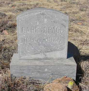 PAGE, CARL J. - Yavapai County, Arizona | CARL J. PAGE - Arizona Gravestone Photos