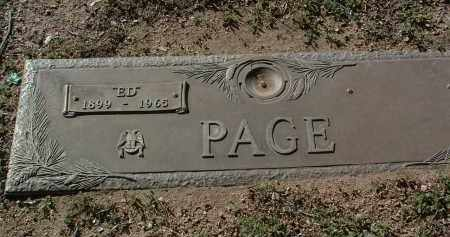 PAGE, EUNICE DENTON (E.D.) - Yavapai County, Arizona | EUNICE DENTON (E.D.) PAGE - Arizona Gravestone Photos