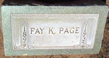PAGE, FAY KATE - Yavapai County, Arizona | FAY KATE PAGE - Arizona Gravestone Photos