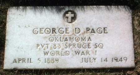PAGE, GEORGE D. - Yavapai County, Arizona   GEORGE D. PAGE - Arizona Gravestone Photos