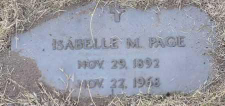 PAGE, ISABELLE M. - Yavapai County, Arizona | ISABELLE M. PAGE - Arizona Gravestone Photos