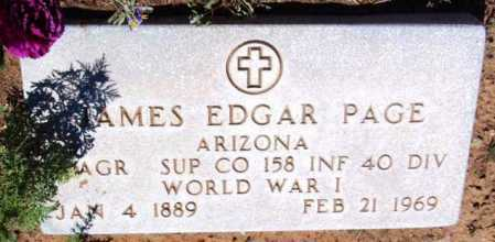 PAGE, JAMES EDGAR - Yavapai County, Arizona | JAMES EDGAR PAGE - Arizona Gravestone Photos