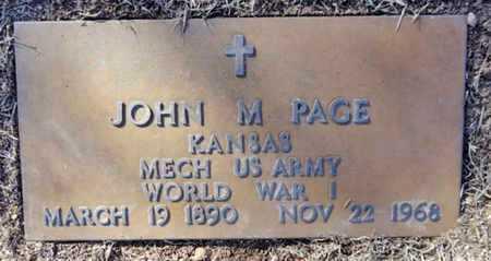 PAGE, JOHN MOSES - Yavapai County, Arizona | JOHN MOSES PAGE - Arizona Gravestone Photos