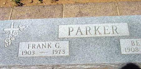 PARKER, FRANK G. - Yavapai County, Arizona | FRANK G. PARKER - Arizona Gravestone Photos