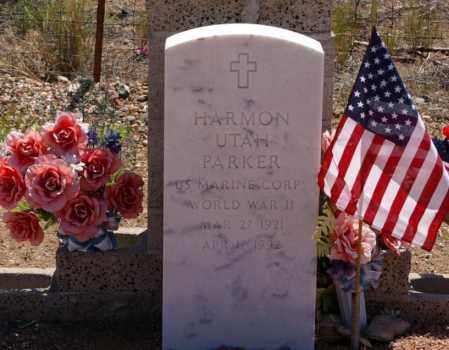PARKER, HARMON UTAH - Yavapai County, Arizona   HARMON UTAH PARKER - Arizona Gravestone Photos