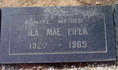 PARKER PIPER, ILA MAE - Yavapai County, Arizona | ILA MAE PARKER PIPER - Arizona Gravestone Photos