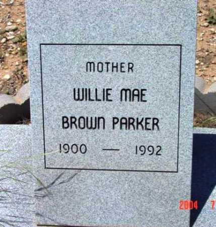 PARKER, WILLIE MAE - Yavapai County, Arizona | WILLIE MAE PARKER - Arizona Gravestone Photos