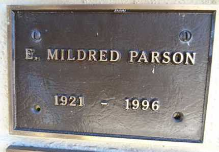 PARSON, EMMA MILDRED - Yavapai County, Arizona | EMMA MILDRED PARSON - Arizona Gravestone Photos