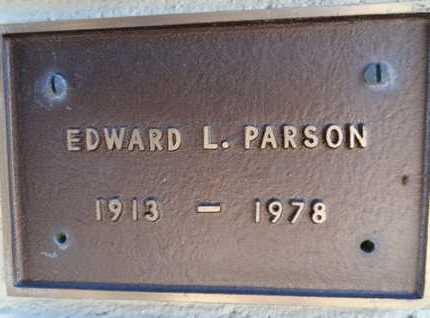 PARSON, EDWARD L. - Yavapai County, Arizona | EDWARD L. PARSON - Arizona Gravestone Photos