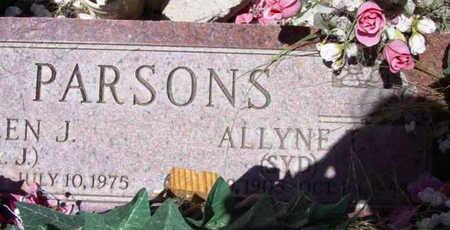 PARSONS, ALLYNE T. - Yavapai County, Arizona | ALLYNE T. PARSONS - Arizona Gravestone Photos