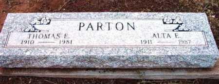 PARTON, THOMAS E. - Yavapai County, Arizona | THOMAS E. PARTON - Arizona Gravestone Photos