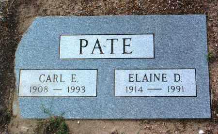 PATE, CARL EDWARD - Yavapai County, Arizona | CARL EDWARD PATE - Arizona Gravestone Photos