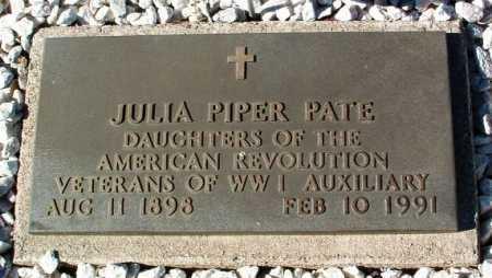 PIPER PATE, JULIA MAE - Yavapai County, Arizona | JULIA MAE PIPER PATE - Arizona Gravestone Photos