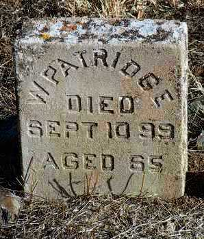 PARTRIDGE, WILLIAM - Yavapai County, Arizona | WILLIAM PARTRIDGE - Arizona Gravestone Photos