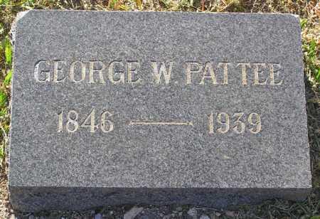 PATTEE, GEORGE W. - Yavapai County, Arizona | GEORGE W. PATTEE - Arizona Gravestone Photos
