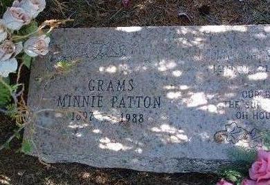 PATTON, MINNIE E. - Yavapai County, Arizona | MINNIE E. PATTON - Arizona Gravestone Photos