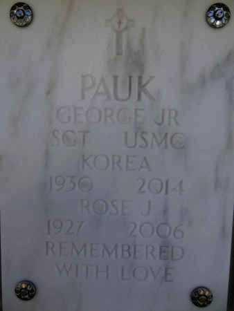 PAUK, GEORGE, JR. - Yavapai County, Arizona | GEORGE, JR. PAUK - Arizona Gravestone Photos