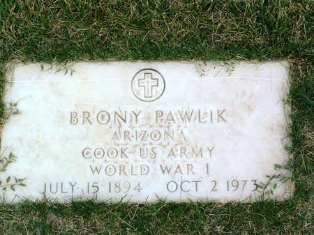 PAWLIK, BRONY - Yavapai County, Arizona | BRONY PAWLIK - Arizona Gravestone Photos