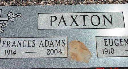 ADAMS PAXTON, FRANCES - Yavapai County, Arizona | FRANCES ADAMS PAXTON - Arizona Gravestone Photos