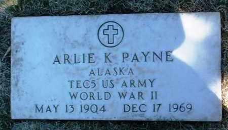 PAYNE, ARLIE K. - Yavapai County, Arizona | ARLIE K. PAYNE - Arizona Gravestone Photos