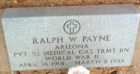 PAYNE, RALPH W. - Yavapai County, Arizona | RALPH W. PAYNE - Arizona Gravestone Photos