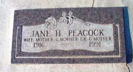 TAYLOR PEACOCK, JANE H. - Yavapai County, Arizona | JANE H. TAYLOR PEACOCK - Arizona Gravestone Photos