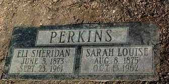 PERKINS, ELI SHERIDAN - Yavapai County, Arizona | ELI SHERIDAN PERKINS - Arizona Gravestone Photos
