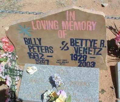 PETERS VENETZ, BETTYE RUTH - Yavapai County, Arizona | BETTYE RUTH PETERS VENETZ - Arizona Gravestone Photos