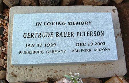 PETERSON, GERTRUDE - Yavapai County, Arizona   GERTRUDE PETERSON - Arizona Gravestone Photos