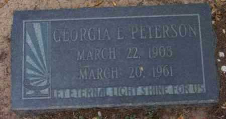 OHLWILER PETERSON, GEORGIA L. - Yavapai County, Arizona | GEORGIA L. OHLWILER PETERSON - Arizona Gravestone Photos