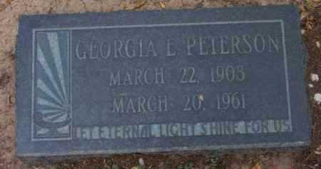 PETERSON, GEORGIA L. - Yavapai County, Arizona | GEORGIA L. PETERSON - Arizona Gravestone Photos