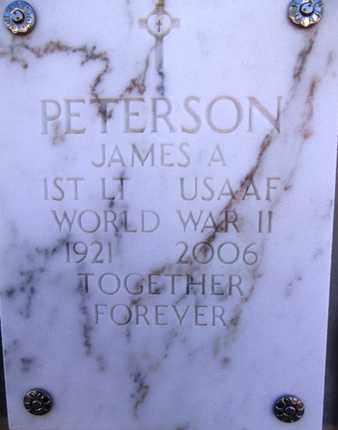 PETERSON, JAMES ALVIN - Yavapai County, Arizona | JAMES ALVIN PETERSON - Arizona Gravestone Photos