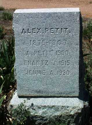 PETIT, JENNIE ALEXANDRINE - Yavapai County, Arizona | JENNIE ALEXANDRINE PETIT - Arizona Gravestone Photos