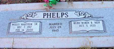 PHELPS, WILLIS MALCOLM - Yavapai County, Arizona | WILLIS MALCOLM PHELPS - Arizona Gravestone Photos